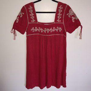 NWT ZARA Woman Embroidered Boho Dress